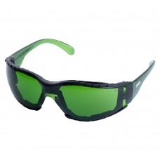 Очки защитные c обтюратором Zoom anti-scratch, anti-fog (зеленые) Sigma (9410881)