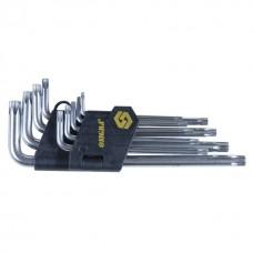 Ключи TORX 9шт T10-T50мм CrV (длинные с отверстием) Sigma (4022231)