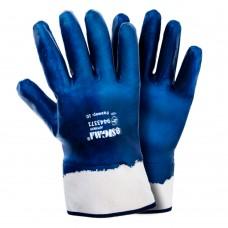 Перчатки трикотажные с нитриловым покрытием (синие краги) 120 пар Sigma (9443371)