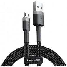 Кабель Baseus cafule Cable USB For Micro 2.4A 0.5M Gray+Black