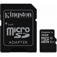 Карта памяти KINGSTON microSDHC 16Gb Canvas Select U1 (R80/W10)+ad