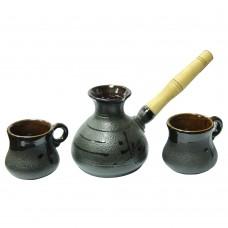 Набор турка керамическая 250 мл + 2 чашки-100 мл Малая, стандарт Османтус